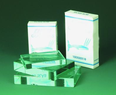 Prism - Clear Glass Rectangular Block 125x65x18mm