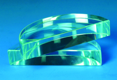 Prism - Acrylic Semi Circular Block  90x16mm thick