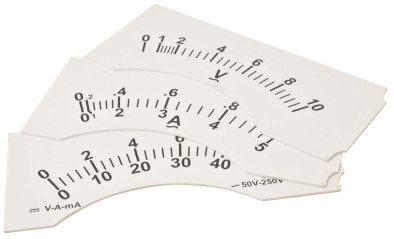 Demonstration Meter. Dial 0-50mA DC