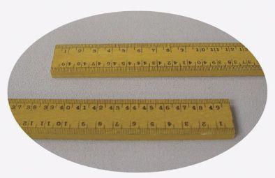 Ruler, 1 metre wooden - cm, mm Division