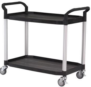 Laboratory Trolley 2 Shelf Large 250kg Edulab