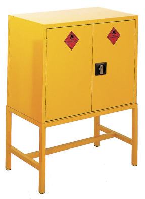 Hazardous Storage Cabinet Horizontal Two Door