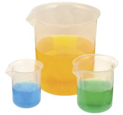 Beaker Polyproplyene Set of 8  (10/25/50/100/250/500/1000/2000)