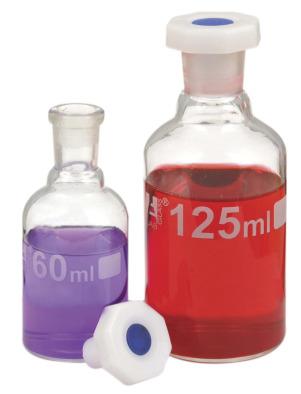 Reagent Bottle, Clear Glass, 500ml, Plastic Stopper