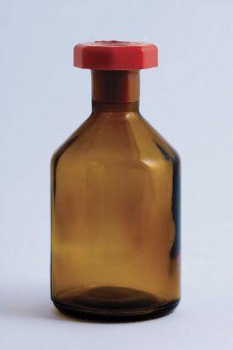 Reagent Bottle, Amber Glass, 1000ml, Plastic Stopper