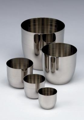 Crucible stainless steel capacity 30ml, dia 40mm