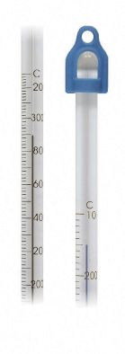 Thermometer Lo Tox 305mm -10/50C x 0.5div 76mm imm. Blue fill