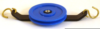 Pulley, Plastic, single, with ball bearings