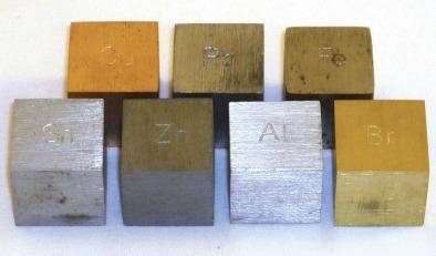 Metal Density Cubes  - 20mm side  (Set 7)