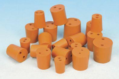 Rubber Stopper 2 Hole 21x24.5x28 (Pk10)