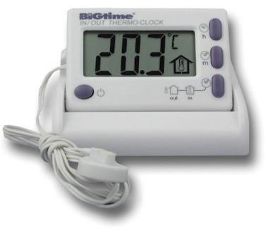 Thermometer, Clock, Indoor/Outdoor