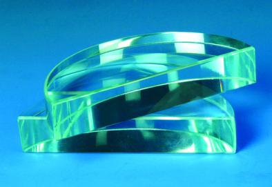 Prism - Acrylic Semi Circular Block  90x25mm thick