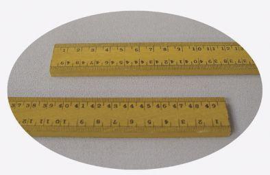 Ruler,  Metric Wooden 0.5metre - cm, large figures