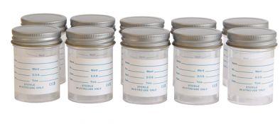 Specimen Container, Metal Cap 60ml, printed label (Pk300)