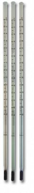 Thermometer 150mm -10/110C x 1.0div Totalimm. Red fill