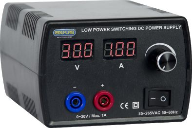 Power Supply, Continuously Variable 0-30V, 1A Regulated DC