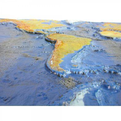 Ocean Floor Raised Relief Map (Unframed)
