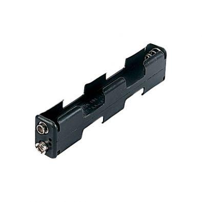 Battery Holder, Long, 4 x AA
