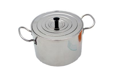 Flat One Piece Stainless Steel Lid with Insulated Handle to suit 5 and 14 Litre Capacity Baths