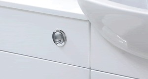 Duel flush concealed cistern reduces water consumption