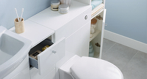 Front access WC unit for easy access to the cistern