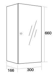 300 Single mirror wall unit Right Hand