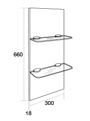 300 Glass shelf unit