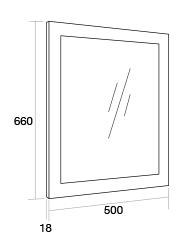 500 Framed mirror