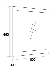 600 Framed mirror