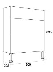 500 Slimline WC unit
