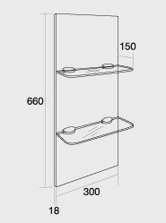 300 Glass shelf unit