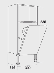 300 Tissue Holder unit