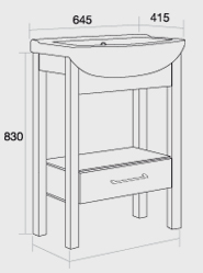 Sendai 650 washstand