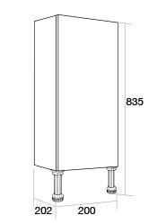 200 Slimline single base unit