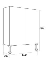 500 Slimline double base unit