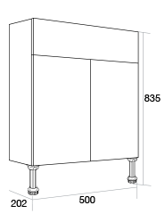 500 Slimline basin unit