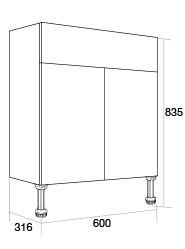 600 basin unit