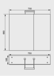 750mm Mirror Wall Unit