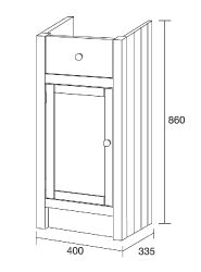 Fitted Single Base Unit - Etienne