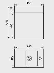 450mm Washbasin Unit & Basin