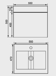 550mm Washbasin Unit & Basin