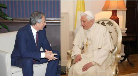 Tony Blair Moves Towards Pope Benedict