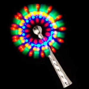Flashing LED Chrome Windmill