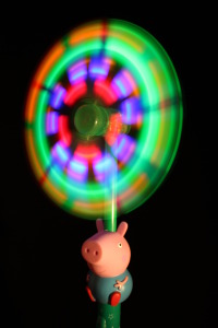 Flashing LED George Pig Windmill