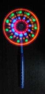 Glowing LED Rainbow Spinner Windmill