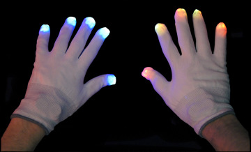 Flashing LED Light Up Party Gloves