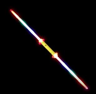 Flashing LED Double Bladed Sword