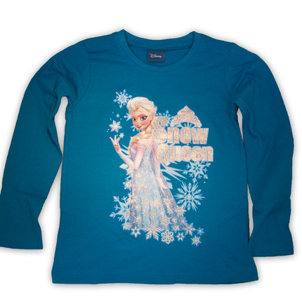 Elsa long sleeve blue T-shirt