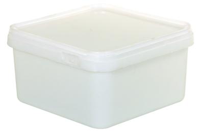 Plastic Pot c/w Lid (Semi Clear Square)