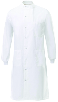 Lab Coat (Round Neck, White)